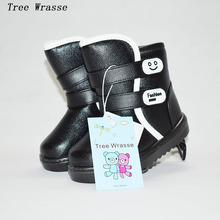 Tree Wrasee boys winter boots 2017 waterproof thickening children's snow boots non-slip warm and comfortable boys and girls boot