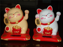 [today] special offer good Meijia solar cat Home Furnishing jewelry cartoon cat car decoration(China)