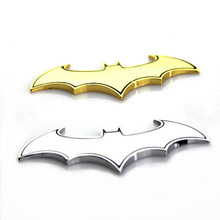 3D Metal Cool Bat Car Stylings Car Sticker Metal Batman Badge Emblem Tail Car Motorcycle Accessories For Benz BMW VW Toyota Ford