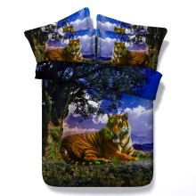 Royal Linen Source 4 Parts Per Set Growling tiger resting 3d animal bed set