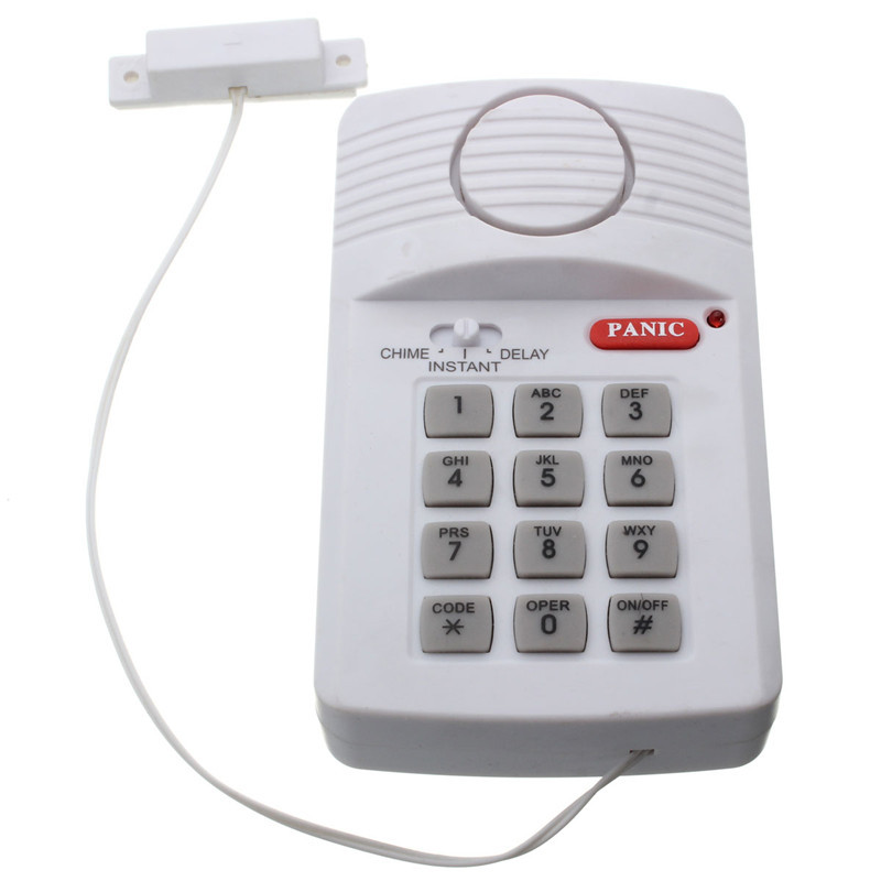 Best sales High Quality Security Keypad Door Alarm System With Panic Button For Home Shed Garage Caravan(China)