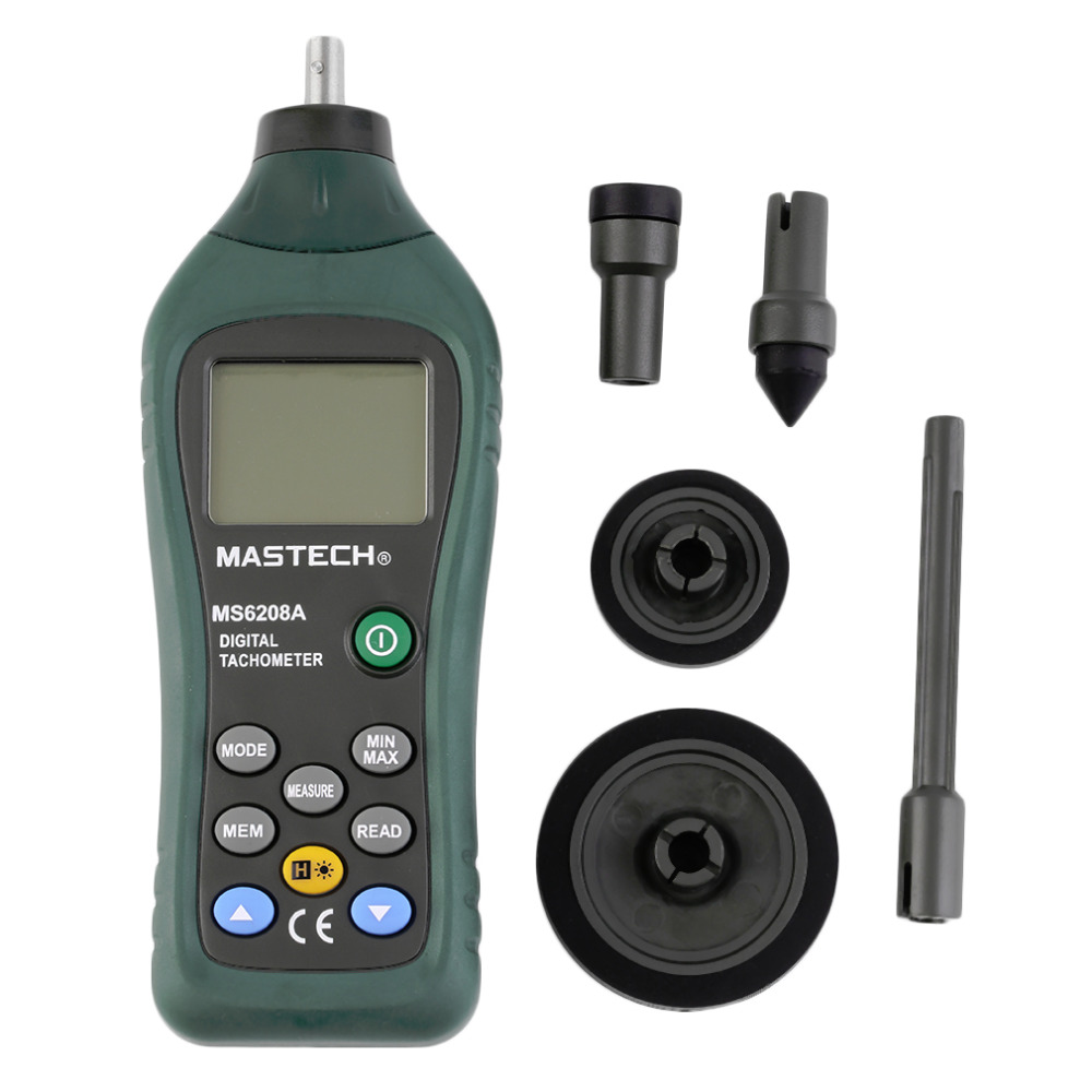 Hot Worldwide MS6208A Contact Digital Tachometer RPM Meter Rotation Speed 50-19999RPM New<br>