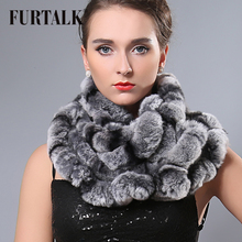 Low price women's cape winter thermal 2015 fashion excellent infinity rex rabbit fur scarf(China)