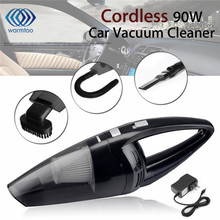 90W Cordless Rechargeable Super Suction Cyclonic Car Vacuum Cleaner Hand held Wet Dry Duster Collector For Car(China)