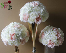 SPR Pink series table centerpiece flower ball artificial rose wedding flower wall backdrop road lead flower for party market(China)