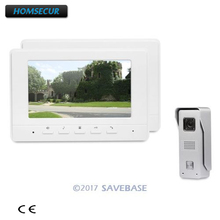 HOMSECUR 7inch Wired Video Door Phone Intercom System with Mute Mode for Home Security