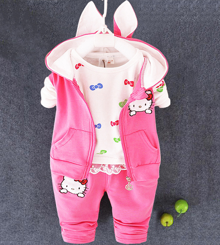 2017 fashionable spring autumn winter hello kitty 3 pieces set newborn baby clothes china<br><br>Aliexpress