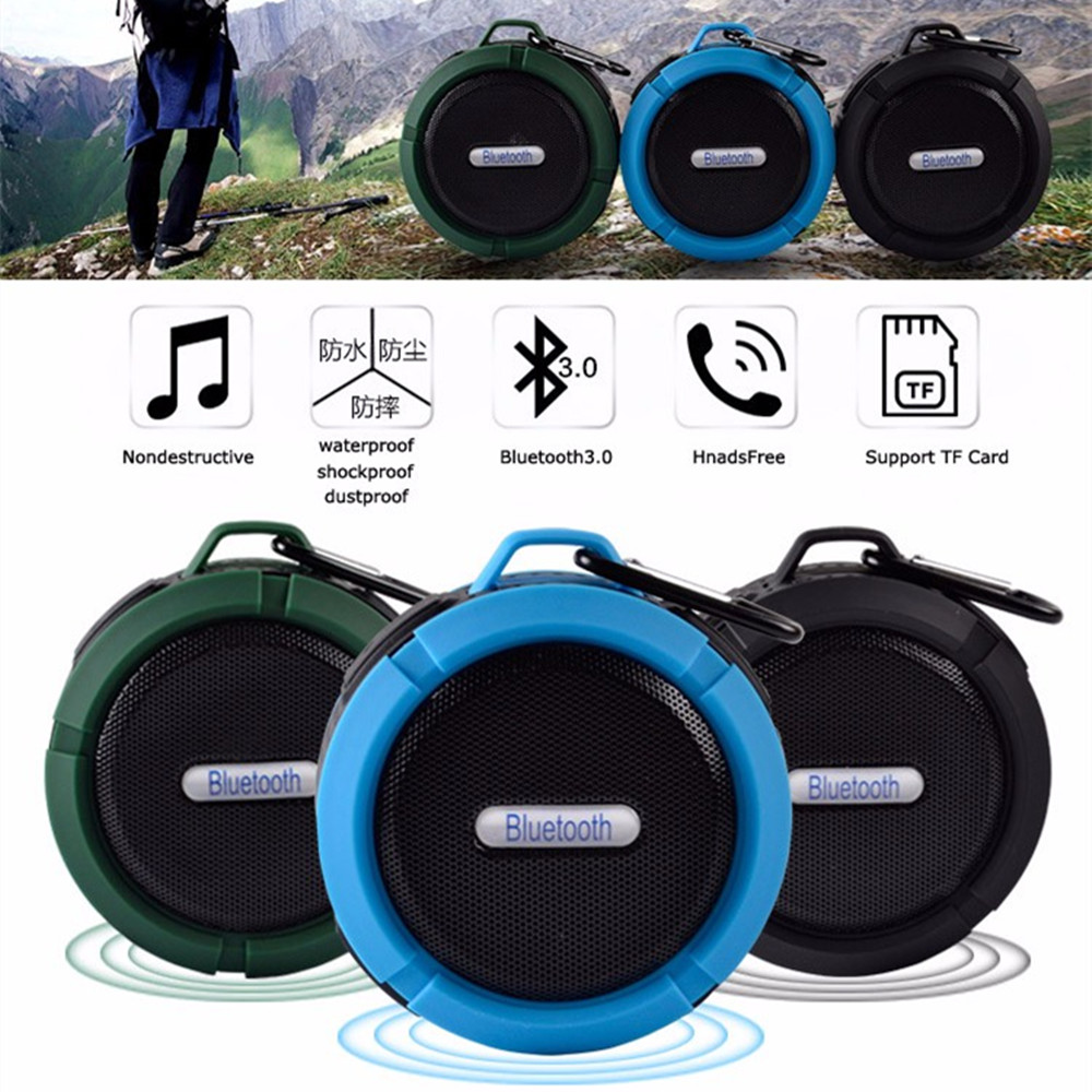 Outdoor Portable Bluetooth Speaker Rugged Waterproof Speakers Wireless Mini Hand Speaker Travel Sport Sound Box with Suction Cup
