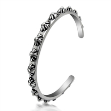 Mcllroy 2016 New Fashion Punk 361L Titanium Steel Rivet Bangles Ancient Silver Stainless Steel Bracelets Nail Bracelet for Men