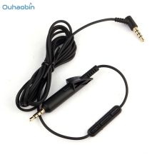Ouhaobin Replacement Audio Control With Mic Microphone 3.5MM Cable For Bose QuietComfort QC15 Headphone Black Cable Sep20(China)