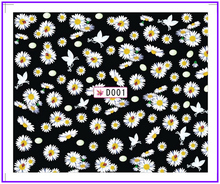 1X  Nail Sticker Daisy Water Transfers Stickers Nail Decals Stickers Water Decal Opp Sleeve Packing SYD001