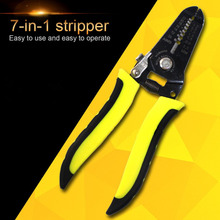 "7"" Professional Wire Stripping Cutter Portable Stripper Crimper Pliers Multi-function Cable Wire Crimping Manual Tool"