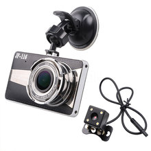 "4.0"" Car DVR Camera Dual Lens with Rear view Night vision driving recorder 170Degree Wide angle Full HD Car Video Recorder"