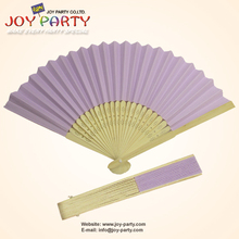 Free Shipping 10 pcs/lot 21cm Lila,light purple, violet Paper Hand Fan Wedding Party Decoration Promotion Favor(China)