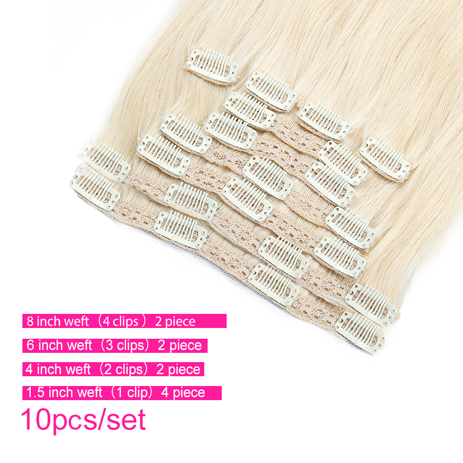 Clip in hair extension Human hair bundles brazilian hair (2)5