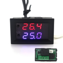 Mini Digital Intelligent Thermostat DC 12V 10A Adjustable Temperature Controller Regulator -50-110C Termostat(China)