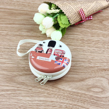 Puscard Fashion Cute Mini Portable Zipper Earphone Headphone Box Bag SD Card Small Jewelry Carrying Pouch Storage