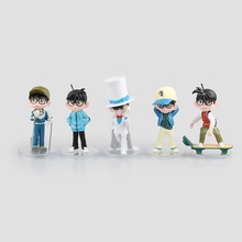 5pcs/set 11cm Japanese anime Detective Conan Case Closed Action Figure Figure Kid the Phantom Thief Collectible Action Figure(China)