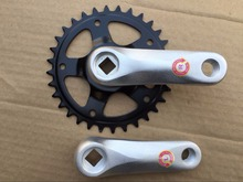 stock limited cool price kids bike crank set chain wheel  32T aluminum alloy fold bike