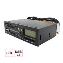 5.25 Inch USB 3.0 High Speed Media Dashboard Front Panel PC Multi Card Reader All in One Support SATA/ESATA/1394