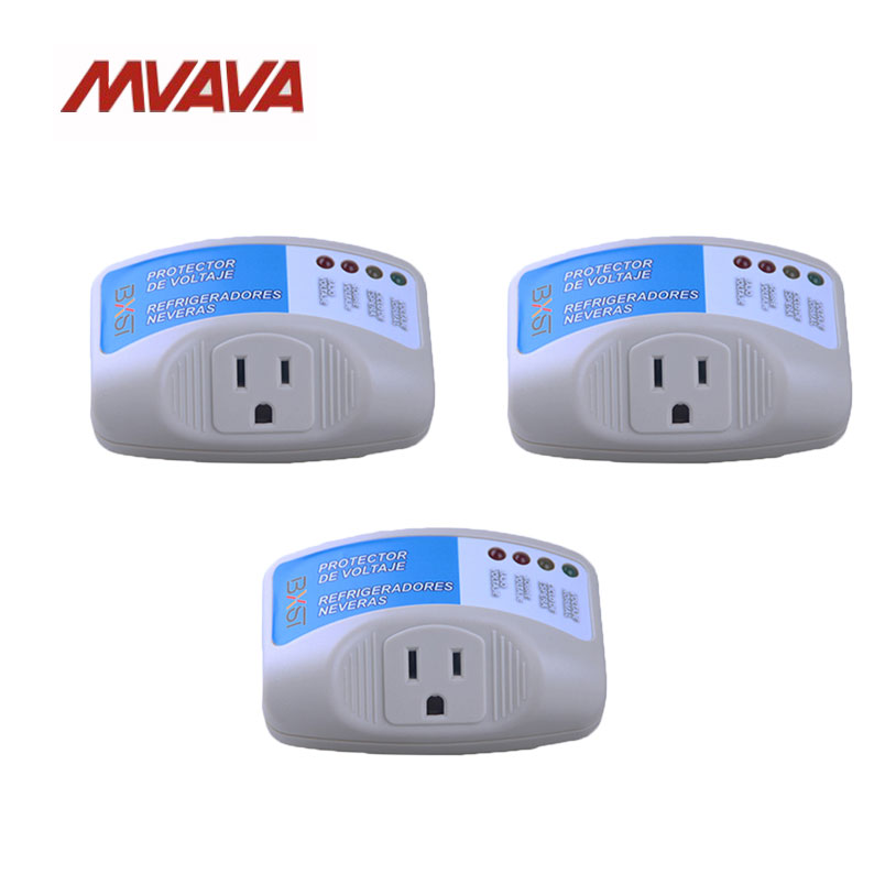 Free Shipping,MVAVA 3 Pack US Standard Electrical Surge Protector HOME Appliance AC90-135V Voltage Brownout Outlet Power Socket<br>