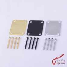1Set GuitarFamily Electric Guitar Electric Bass Neck Plate / Neck Joint Plate With Screws MADE IN KOREA(China)