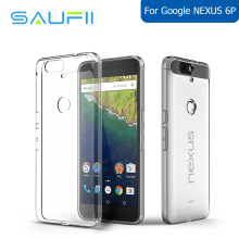 SAUFII Original fundas For google Nexus 6P case 0.3mm Ultra thin Soft TPU Transparent Case Silicone Cover case for Nexus 6P
