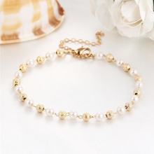 New Simulated Pearl Charm Bead Bracelet & Bangle Gold Color Bracelet For Women Gift Wedding Bracelet for Women Accessories