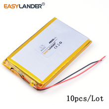 10pcs /Lot 4800mAh 895693 3.7V lithium Li ion polymer rechargeable battery can be customized wholesale MID pad laptop cell phone(China)