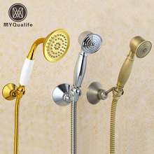 Luxury Free Shipping Bathroom Brass Hand Shower Sprayer 150cm Shower Hose  Bracker Handshower Holder