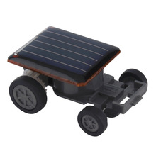 Hot! 3pcs Creative Solar Powered Mini Running Car for Children Toys Present New Sale(China)