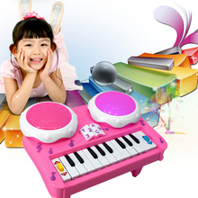 Baby Piano Toy Musical Instrument Educational LED Flashing Light Piano Developmental Music Drum Toy for Kids