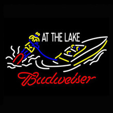 "New Neon Sign Budweiser At The Lake Neon Light Sign cool neon Arcade handcraft Glass Tube Publicidad Commercial Light 24""x20""(China)"