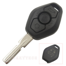 Replacement remote car key shell 4 track for BMW  3 5 7 SERIES X3 X5 Z4 backside with words with logo free shipping high quality