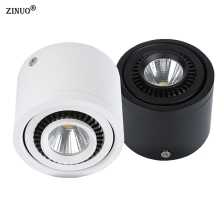 ZINUO COB LED Downlights 5W 7W 9W 20W Surface Mounted LED Ceiling Lamps Spot Light 360 Degree Rotation LED Downlights AC85-265V