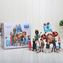 set of 10 4-18cm One Piece Anime One Piece Figures Dolls Toys 2 Years Later Large Doll Model