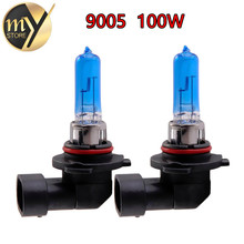 Buy 2pcs 9005 100W HB3 100W Halogen Bulbs super white Headlights fog lamps light running Car Light Source parking 6000K 12V head day for $3.66 in AliExpress store