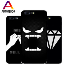 oneplus 5 Case,Silicon Black Graffiti Painting Soft TPU  Back Cover for one plus 5 a5000 Phone Protect Bags shell
