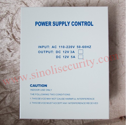 110V~240V Input DC12V/5A Output Access Control Switching Mode Power Supply with Back-up Battery Interface &amp; Remote Controller<br>