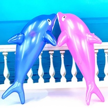 2016 New Arrival Hot Sale Inflatable Dolphin Fish 53cm Beach Party Children Kids Toy Gift Fancy Dress Prop 5pcs/lot Summer Toys