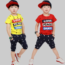 Kindergarten Park Service Short Sleeved Summer Pure Cotton Hip Hop Suit Pupil Six One Performance Serve 2 Pieces Kids Clothing