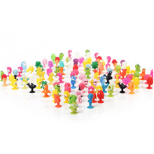 100Pcs/lot PVC Dolls Sukers Cupule kids Cartoon Ocean Animal Action Figure Toys Sucker Mini Suction Cup Collector Capsule models(China)