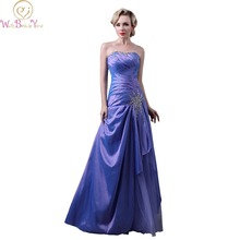 WALK BESIDE YOU Real Picture Lavender Evening Dresses Strapless Taffeta with Crystal A-line Formal Dresses Prom Gown Custom Made(China)