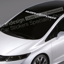 For Honda Mugen Power Type A NSX FIT Accord S2000 CIVIC Auto SUV Sticker Decals Waterproof  Windshield Sticker QCPP