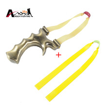 Powerful Sling Shot Mental Slingshot Bow Catapult With Natural Latex Rubber Band Tactical Hunting Pocket Slingshot Accessories(China)