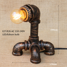 Vintage  Art deco creative robot steam punk table lamp  reading desk light for study bedroom bedside office e27 / e26 110v 220v