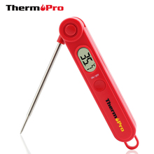 ThermoPro TP03 Ultral Fast Digital Instant Read Food Cooking Meat Thermometer with 4 Inch Foldable Stainless Steel Probe(China)