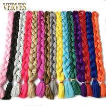 VERVES long 100cm,165g/pcs synthetic Braiding Hair kanekalon Fiber Hair Extensions straight free shipping crochet hair