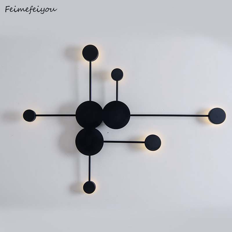 Postmodern wall lamp simple led living room wall lamp bedroom bedside creative aisle hotel exhibition hall corridor lighting