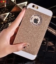 LELOZI Golden Case For iphone 4 4s / 5 5s Fashion Cutely Girl Bling Bling Diamond Glitter Protector Case Back Cover